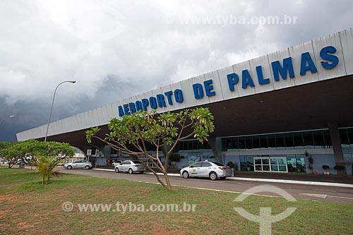 Fachada do Aeroporto de Palmas - Brigadeiro Lysias Rodrigues (2001)  - Palmas - Tocantins (TO) - Brasil