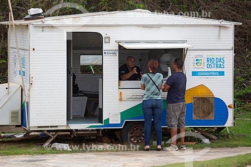 Cabine da Polícia na cidade de Rio das Ostras  - Rio das Ostras - Rio de Janeiro (RJ) - Brasil