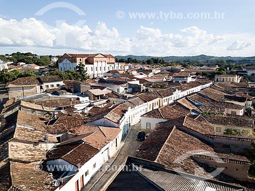 Foto feita com drone da cidade de Goiás com a Igreja Matriz de SantAna (1743) ao fundo  - Goiás - Goiás (GO) - Brasil