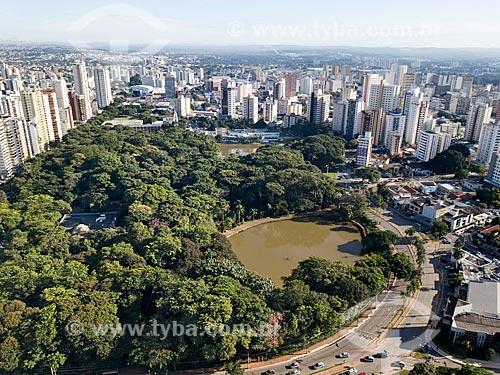 Foto feita com drone do Bosque dos Buritis  - Goiânia - Goiás (GO) - Brasil