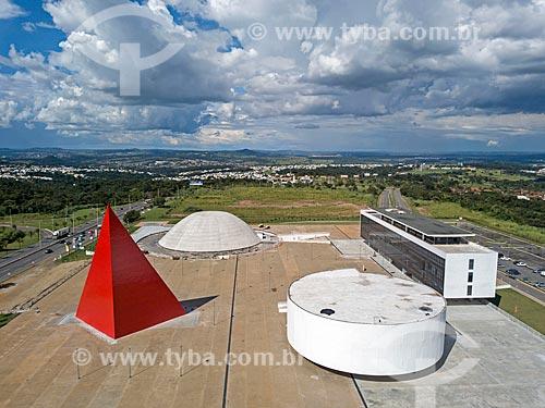 Foto feita com drone da Centro Cultural Oscar Niemeyer (2006)  - Goiânia - Goiás (GO) - Brasil