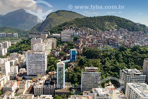 Foto feita com drone da Favela do Cantagalo  - Rio de Janeiro - Rio de Janeiro (RJ) - Brasil