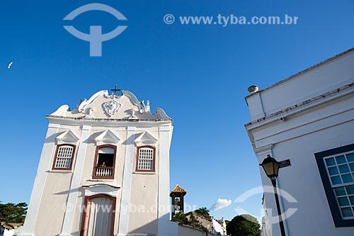 Fachada da Igreja de Nossa Senhora da Boa Morte (1779) - também abriga o Museu de Arte Sacra da Boa Morte  - Goiás - Goiás (GO) - Brasil
