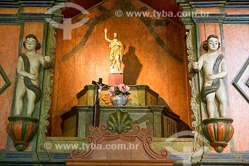 Detalhe do altar da Capela de São João Batista (1761)  - Goiás - Goiás (GO) - Brasil