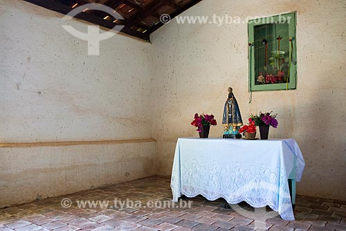 Interior da sacristia da Capela de São João Batista (1761)  - Goiás - Goiás (GO) - Brasil