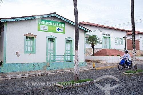 Fachada da Casa de vigilância em saúde na Avenida Benjamin Constant  - Pirenópolis - Goiás (GO) - Brasil