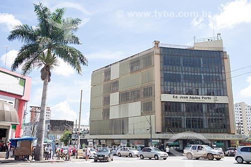 Fachada do Edifício José Aquino Porto - sede da Federação das Indústrias do Estado de Goiás (FIEG)  - Goiânia - Goiás (GO) - Brasil