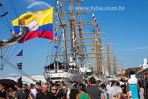 Veleiro (Venezuela) durante o evento Velas Sulamericanas 2018 - evento de exibição de veleiros de diversos países - no Porto do Rio de Janeiro  - Rio de Janeiro - Rio de Janeiro (RJ) - Brasil