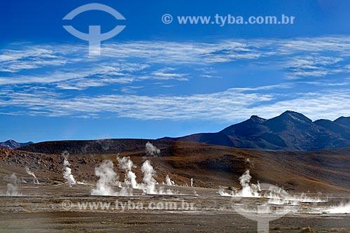 Vista geral do Gêiseres del Tatio (Gêiseres de Tatio) no Deserto do Atacama  - San Pedro de Atacama - Província de El Loa - Chile
