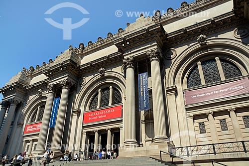 Fachada da Museu Metropolitano de Arte (1820)  - Cidade de Nova Iorque - Nova Iorque - Estados Unidos