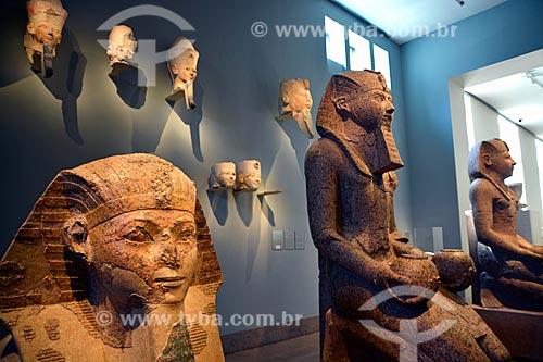 Esculturas do Faraó Feminino Hatshepsut no setor de Arte Egípcia no Museu Metropolitano de Arte (1820)  - Cidade de Nova Iorque - Nova Iorque - Estados Unidos