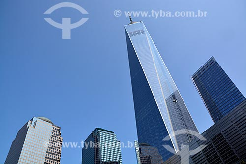 Vista da fachada do WTC 1  - Cidade de Nova Iorque - Nova Iorque - Estados Unidos