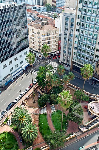 Vista de cima da Praça Otávio Rocha  - Porto Alegre - Rio Grande do Sul (RS) - Brasil