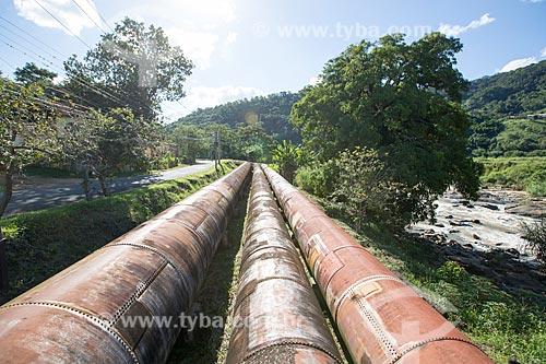 Tubos de adutora da Usina Hidrelétrica Alberto Torres (1908)  - Areal - Rio de Janeiro (RJ) - Brasil