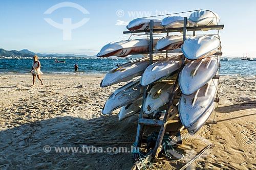 Caiaques para aluguel na orla da Praia de Ponta das Canas  - Florianópolis - Santa Catarina (SC) - Brasil