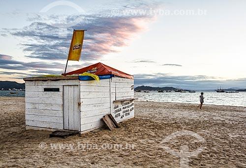 Quiosque na orla da Praia de Ponta das Canas  - Florianópolis - Santa Catarina (SC) - Brasil