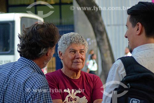 Deputado Chico Alencar em manifestação contra a prisão do ex-Luiz Inácio Lula da Silva na Cinelândia  - Rio de Janeiro - Rio de Janeiro (RJ) - Brasil