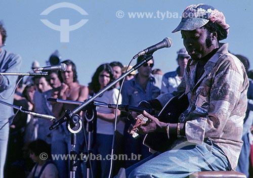 Milton Nascimento durante o Show do Paraíso - promovido por Milton Nascimento e conhecido como o Woodstock Mineiro  - Três Pontas - Minas Gerais (MG) - Brasil