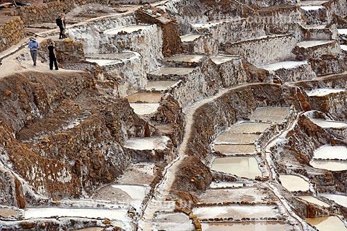 Vista geral dos tanques de evaporação de sal da Salina de Maras  - Maras - Província de Urubamba - Peru