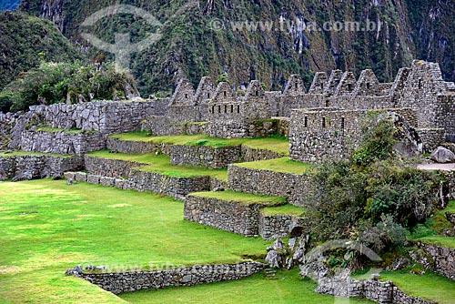 Praça Principal nas ruínas de Machu Picchu  - Departamento de Cusco - Peru