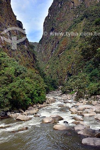Vista do Rio Urubamba próximo a cidade de Machu Picchu Pueblo  - Machu Picchu pueblo - Departamento de Cusco - Peru