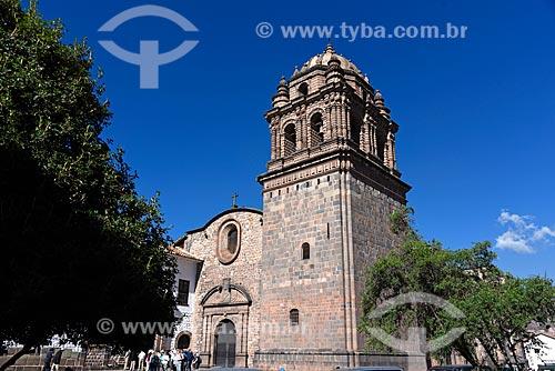 Fachada da Iglesia y Convento de Santo Domingo (Igreja e Convento de Santo Domingo) - 1534 - construído sobre as ruínas do Templo Qorikancha dedicado ao Deus Sol  - Cusco - Departamento de Cusco - Peru