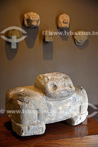 Detalhe de Felino Pacopampa - 1250 a.C - 1 d.C. - em exibição no Museo Arqueológico Rafael Larco Herrera (Museu Arqueológico Rafael Larco Herrera)  - Lima - Província de Lima - Peru