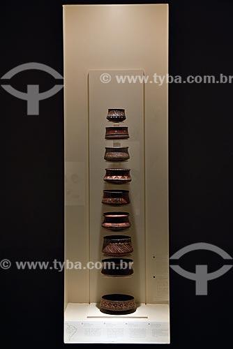 Tigelas Chincha - Período Imperial - 1300 d.C. - 1532 d.C. - em exibição no Museo Arqueológico Rafael Larco Herrera (Museu Arqueológico Rafael Larco Herrera)  - Lima - Província de Lima - Peru