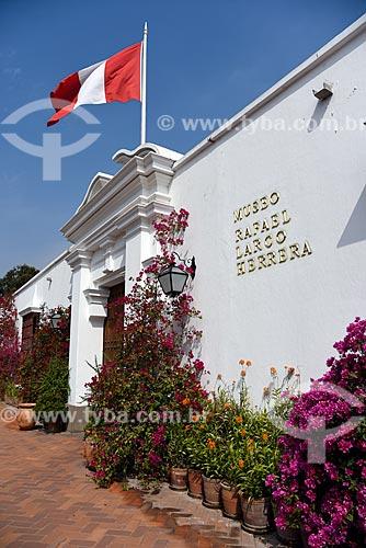 Fachada do Museo Arqueológico Rafael Larco Herrera (Museu Arqueológico Rafael Larco Herrera) - 1926  - Lima - Província de Lima - Peru