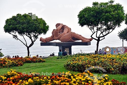 Escultura El Beso (O Beijo) - 1993 - no Parque Del Amor (Parque do Amor)  - Lima - Província de Lima - Peru