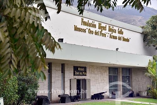 Fachada do Museo Oro del Perú y Armas del Mundo (Museu do Ouro do Peru e Armas do Mundo)  - Lima - Província de Lima - Peru