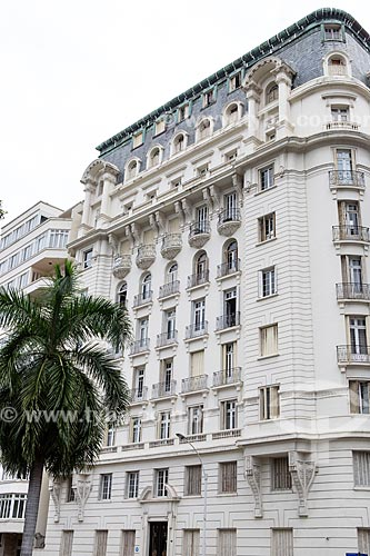 Fachada do Edifício Praia do Flamengo (1925) na Avenida Praia do Flamengo  - Rio de Janeiro - Rio de Janeiro (RJ) - Brasil