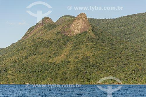Vista do Pico do Pão de Açúcar - também conhecido como Pico do Mamanguá  - Paraty - Rio de Janeiro (RJ) - Brasil
