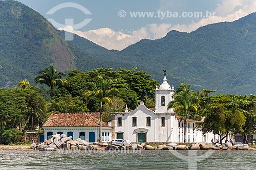 Vista geral da Baía de Paraty com a Igreja de Nossa Senhora das Dores (1820) ao fundo  - Paraty - Rio de Janeiro (RJ) - Brasil