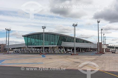 Fachada do Aeroporto Internacional Juscelino Kubitschek (1957)  - Brasília - Distrito Federal (DF) - Brasil