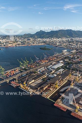 Foto aérea do Porto do Rio de Janeiro  - Rio de Janeiro - Rio de Janeiro (RJ) - Brasil