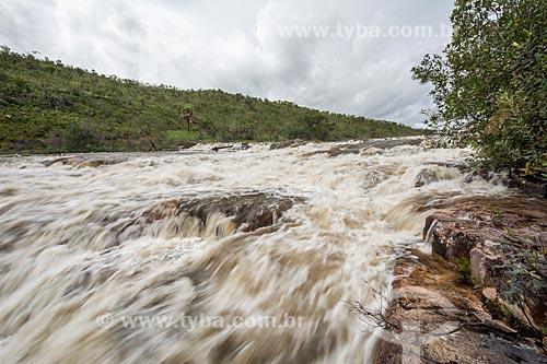 Vista da Cachoeira dos Couros no Parque Nacional da Chapada dos Veadeiros  - Alto Paraíso de Goiás - Goiás (GO) - Brasil
