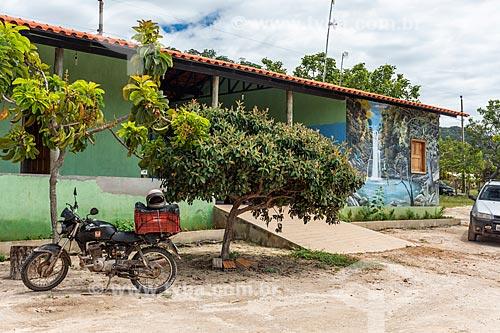 Fachada de casas em Comunidade Calunga próxima à cidade de Cavalcante  - Cavalcante - Goiás (GO) - Brasil