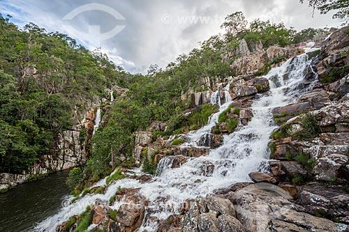 Vista da Cachoeira da Capivara na Chapada dos Veadeiros  - Alto Paraíso de Goiás - Goiás (GO) - Brasil