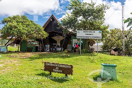 Fachada de Posto de Informação Turística na cidade de Alto Paraíso de Goiás  - Alto Paraíso de Goiás - Goiás (GO) - Brasil