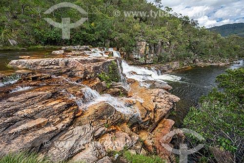 Vista da Cachoeira Almécegas II no Parque Nacional da Chapada dos Veadeiros  - Alto Paraíso de Goiás - Goiás (GO) - Brasil