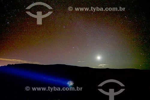 Feixe de luz no complexo da Pedra Furada no Parque Nacional Serra da Capivara  - Coronel José Dias - Piauí (PI) - Brasil