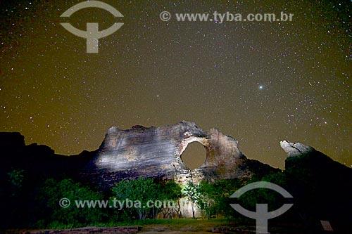 Pedra Furada no Parque Nacional Serra da Capivara  - Coronel José Dias - Piauí (PI) - Brasil
