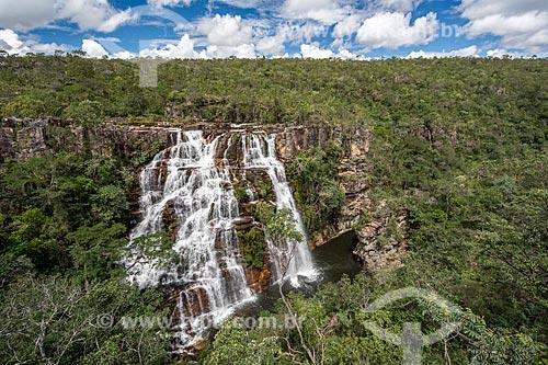 Vista da Cachoeira Almécegas I no Parque Nacional da Chapada dos Veadeiros  - Alto Paraíso de Goiás - Goiás (GO) - Brasil