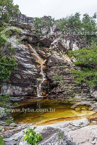 Cachoeira do Abismo no Parque Nacional da Chapada dos Veadeiros  - Alto Paraíso de Goiás - Goiás (GO) - Brasil