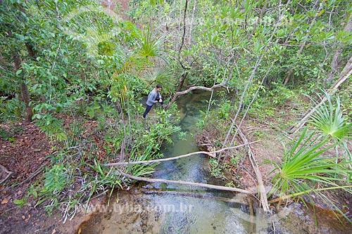 Encontro das águas do Rio Água Quente e Rio do Salto no Parque Nacional das Nascentes do Rio Parnaíba  - Barreiras do Piauí - Piauí (PI) - Brasil