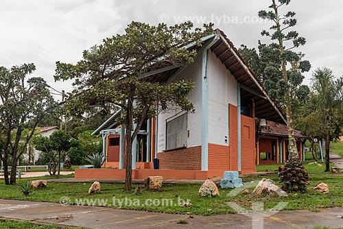 Fachada de casa na Praça do Artesão  - Alto Paraíso de Goiás - Goiás (GO) - Brasil