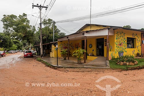 Fachada de loja na Vila de São Jorge  - Alto Paraíso de Goiás - Goiás (GO) - Brasil