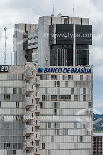Fachada do edifício sede da Banco de Brasília    - Brasília - Distrito Federal (DF) - Brasil