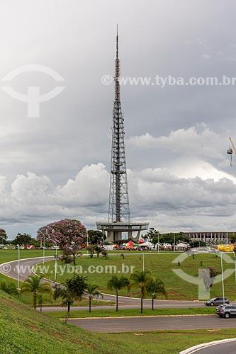 Vista do Jardim Burle Marx com a Torre de TV de Brasília ao fundo  - Brasília - Distrito Federal (DF) - Brasil